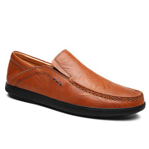 Fashion Faux Leather Slip On Casual Shoes