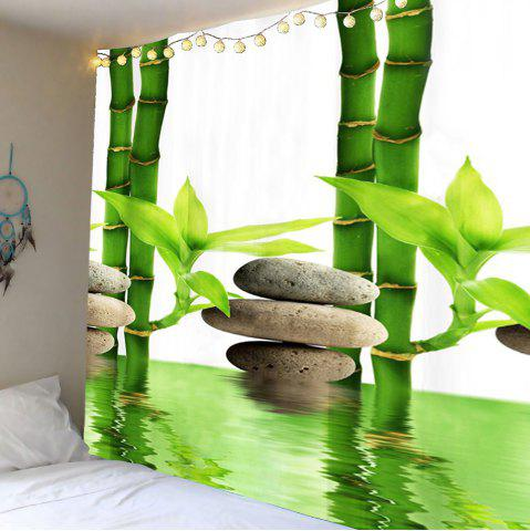 Bamboo Forest Pool Tapis d'impression en mur d'art