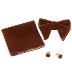 Three Pieces Handkerchief Bowtie Cufflink Suit