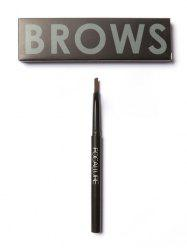 Two Head Waterproof Auto Brows Pencil With Brush - BROWN