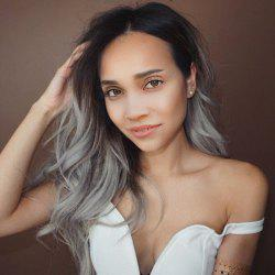 Long Middle Part Ombre Wavy Colormix Synthetic Wig