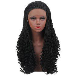 Long Twisted Curly Braids Lace Front Synthetic Wig