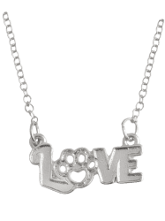 Heart Claw Footprint Love Pet Necklace