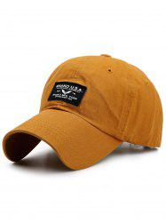 Sunscreen Letters Patchwork Baseball Cap -
