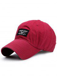 Sunscreen Letters Patchwork Baseball Cap - BRIGHT RED