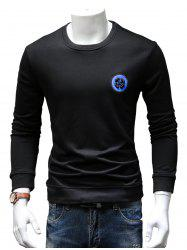 Back Sequinned Chief Skull Embroidered Sweatshirt