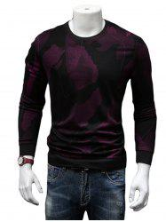 Cotton Blends Abstract Ombre Print Sweatshirt