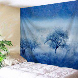 Fog Forest Trees Print Tapestry Wall Hanging Art Decoration
