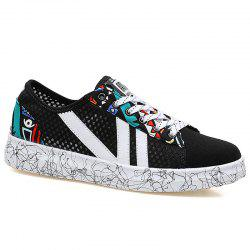 Breathable Graffitti Mesh Sneakers -
