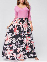 Floral Scoop Neck Maxi Dress