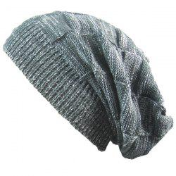 Warm Striped Rib Knitting Beanie