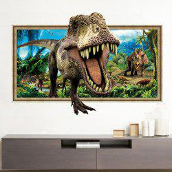 Decorative 3D Tyrannosaurus Printed Wall Sticker - COLORMIX