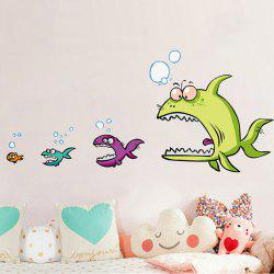 Cartoon Piranha Shape DIY Wall Sticker