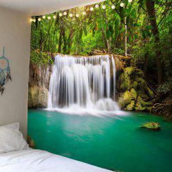 Forest Waterfall Wall Art Hanging Tapestry