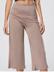 High Waisted Wide Leg Capri Pants - SKIN COLOR 2XL