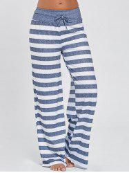 Wide Leg Striped Pants - STRIPE