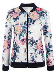 Zip Up Floral Jacket - FLORAL