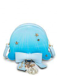 Star Pattern Bow Crossbody Bag