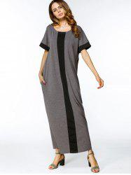 Two Tone Loose Maxi Dress -