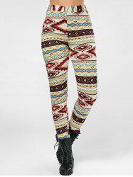 Geometrical Print High Waisted Leggings -