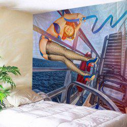 Vintage Pin-up Girl Print Tapestry Wall Hanging Art Decoration -