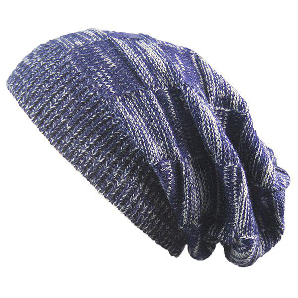 Warm Striped Rib Knitting BeanieACCESSORIES<br><br>Color: CADETBLUE; Hat Type: Skullies Beanie; Group: Adult; Gender: Unisex; Style: Fashion; Pattern Type: Others; Material: Acrylic; Weight: 0.0740kg; Package Contents: 1 x Hat;