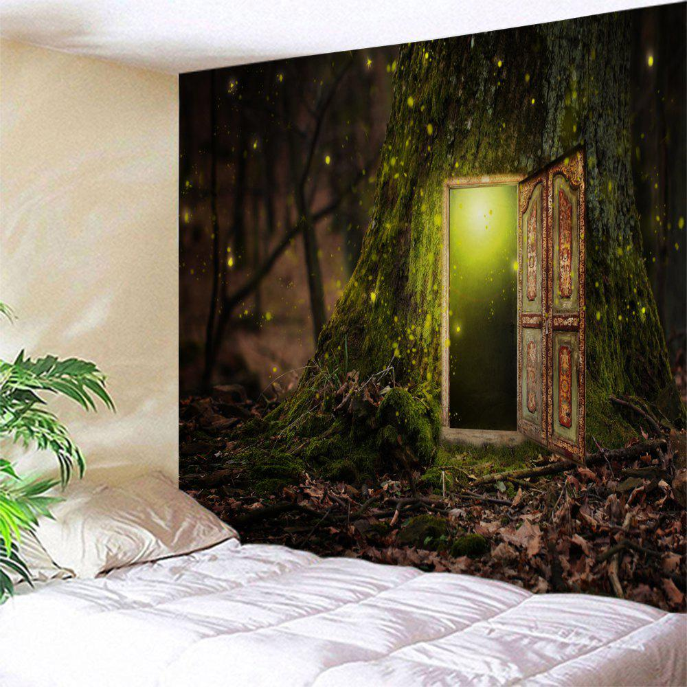 Wall Art Hanging Decorative Fairy Tree TapestryHOME<br><br>Size: W71 INCH * L91 INCH; Color: COLORMIX; Style: Romantic; Theme: Landscape; Material: Polyester; Feature: Removable,Washable; Shape/Pattern: Forest,Print; Weight: 0.3800kg; Package Contents: 1 x Tapestry;