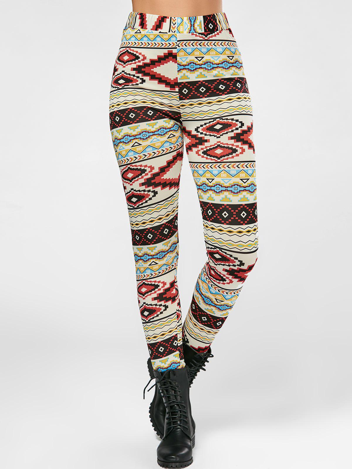 Outfits Geometrical Print High Waisted Leggings