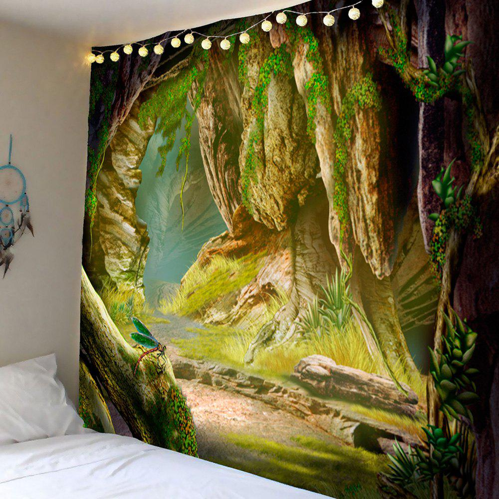 Green W59 Inch * L51 Inch Cave Vines Patterned Hanging Wall Tapestry ...