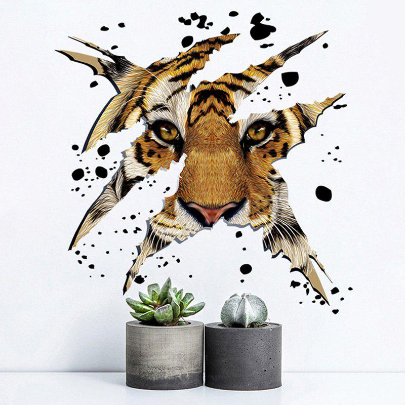 Home Decorative 3D Tiger Head Shape Wall StickerHOME<br><br>Color: LIGHT BROWN; Wall Sticker Type: 3D Wall Stickers; Functions: Decorative Wall Stickers; Theme: Animals; Material: PVC; Feature: Removable; Weight: 0.2250kg; Package Contents: 1 x Wall Sticker;
