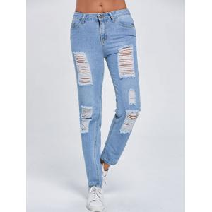 Distressed Cut Out Stright -
