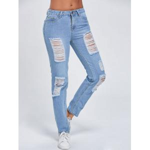 Distressed Cut Out Stright