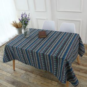 Bohemia Zigzag Printed Tablecloth - COLORFUL W55 INCH * L40 INCH