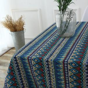 Bohemia Zigzag Printed Tablecloth - COLORFUL W55 INCH * L71 INCH