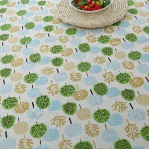 Trees Pattern Kitchen Decor Table Cloth - GREEN W55 INCH * L40 INCH