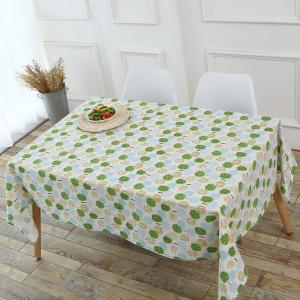 Trees Pattern Kitchen Decor Table Cloth - GREEN W55 INCH * L55 INCH