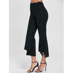 Scalloped Flare Pants - Black - M