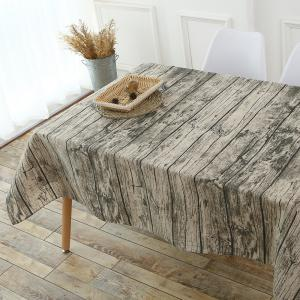 Original Wood Texture Kitchen Decor Table Cloth - WOOD W55 INCH * L71 INCH