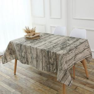 Original Wood Texture Kitchen Decor Table Cloth - Wood - W55 Inch * L78 Inch