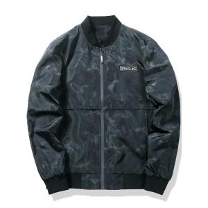 Zip Pocket Camo Bomber Jacket