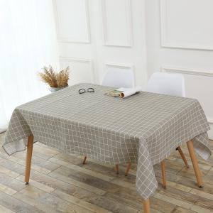 Grids Patterned Kitchen Decor Table Cloth