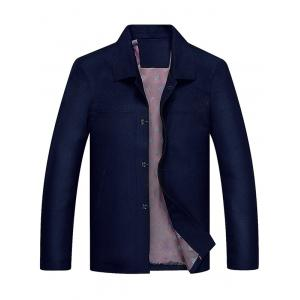 Slim Fit Turndown Collar Single Breasted Jacket