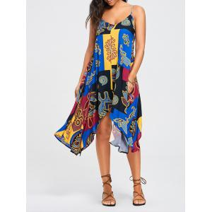 Patchwork Print Handkerchief Slip Dress