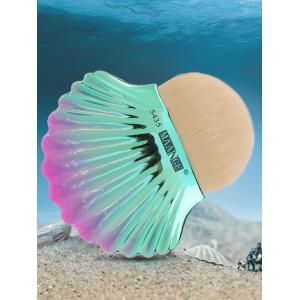 Two Tone Ocean Shell Shape Foundation Brush - White - One-size