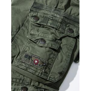 Pockets Embellished Zipper Fly Cargo Pants - ARMY GREEN 34