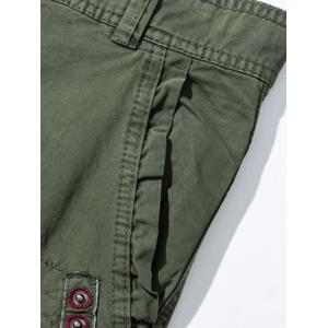 Pockets Embellished Zipper Fly Cargo Pants - ARMY GREEN 38