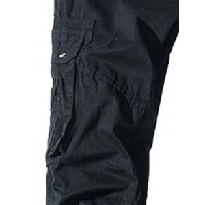 Pockets Embellished Zipper Fly Cargo Pants - BLACK 34