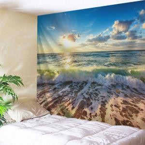 Beach Waves Print Tapestry Wall Hanging Art Decoration - W71 Inch * L91 Inch
