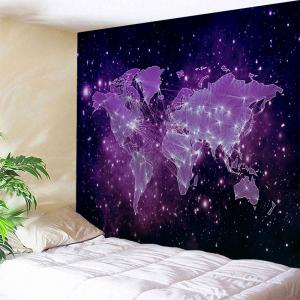 Galaxy World Map Print Tapestry Wall Hanging Art Decoration