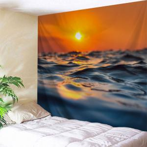 Sunset Ocean Print Tapestry Wall Hanging Art Decoration